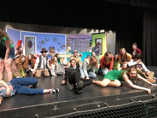 """A cast and crew of some 79 students is involved in the spring musical, """"Little Shop of Horrors,"""" which opens April 19 at South Lyon High School."""