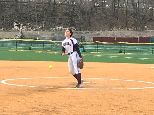 Verona's Christina Colon was solid in the circle, tossing seven innings, allowing two runs on four hits while striking out four.