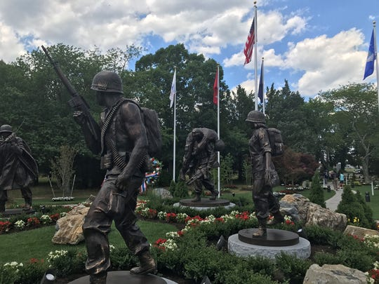 """One of Linda Grunin's most visible legacies: The """"Protectors of Freedom"""" memorial in Toms River's Bey Lea Park honors a century of service by the men and women in the U.S. armed forces."""