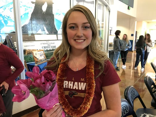 Damonte Ranch senior McKinley Thiede signed to play volleyball at Louisiana at Monroe.