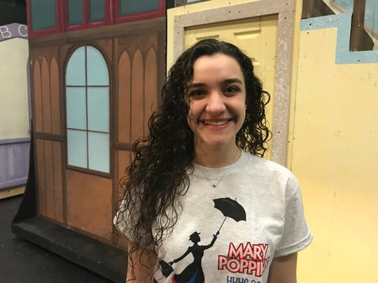 "Hendrick Hudson High School senior Melody Munitz plays the title role in ""Mary Poppins."""