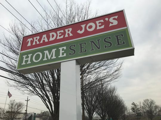 The sign in front of the Homesense store under construction
