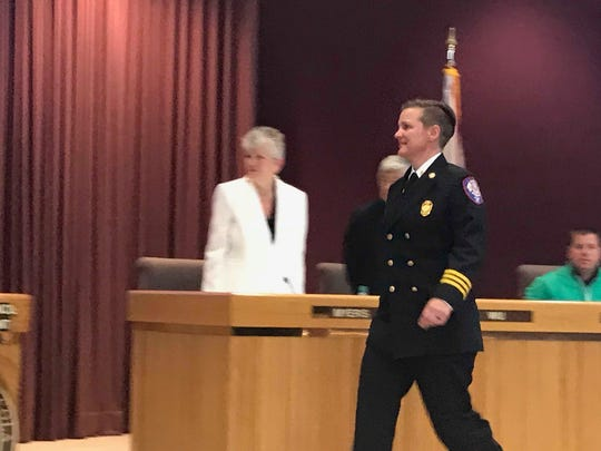 Pensacola's new fire chief Ginny Cranor thanks the