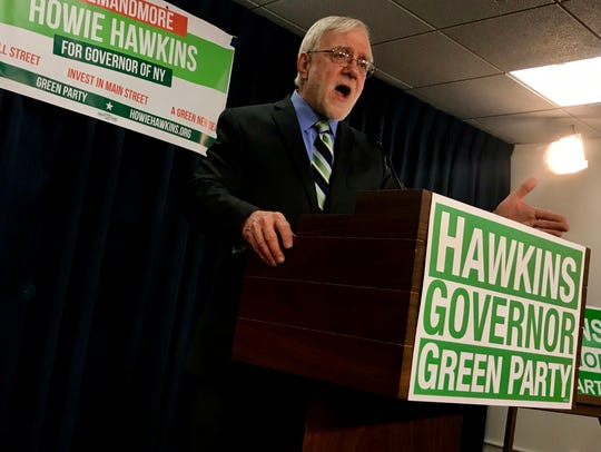Howie Hawkins of Syracuse announces his run for governor