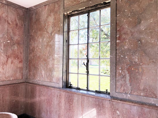 A room at the Candoro Arts & Heritage Center featuring Tennessee Pink Marble. Candoro Arts & Heritage Center uses a scavenger hunt to encourage children to identify pink marble in and around Knoxville.