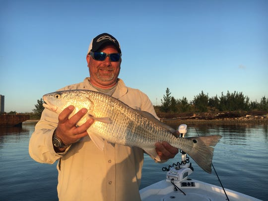 Dave with a nice redfish to start off an awesome morning