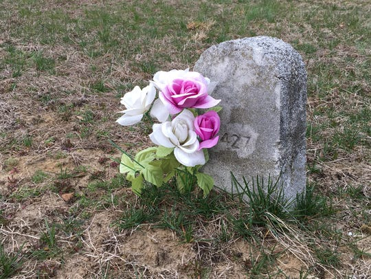 Gravestone No. 427 (Rocco Reitano, died 1946) is the