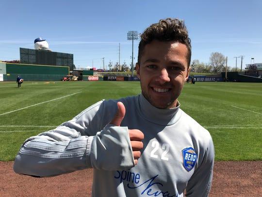Reno 1868 FC midfielder Jerry van Ewijk had a busy