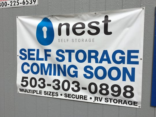 Construction of Nest Self Storage at 1815 Hyacinth St. NE in Salem, Ore., on April 13, 2018.