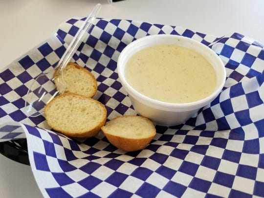 The Clam Chowder at Sugies Diner is $2.99 for a cup.