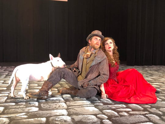 "Bill Sikes (Josh Wright) and Nancy (Rebecca Moseley) appear in ""Oliver!"" at the Cascade Theatre."