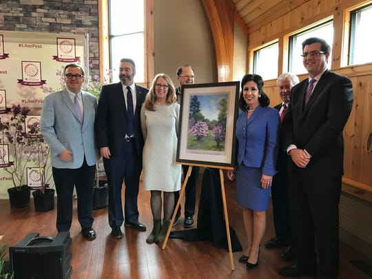Local artist Kathryn Bevier was commissioned for the 2018 Lilac Festival poster.