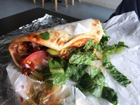 Spicy garlic chicken shawarma at Gazali's in the Drake