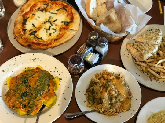 Family style meals at Bocaccinis in Perinton.