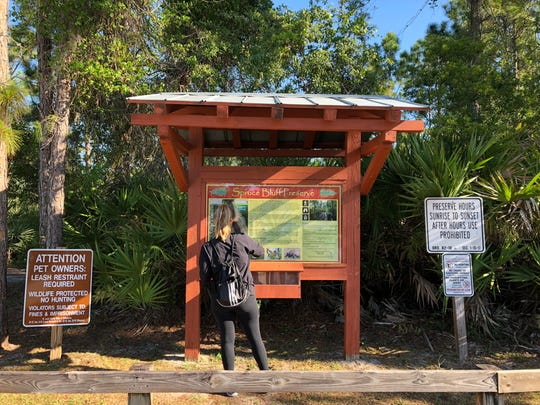 Spruce Bluff is a 97-acre preserve with two historic trails at 611 Dar Lane in Port St. Lucie.