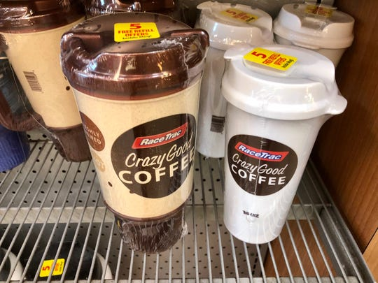 Get a discount on coffee and fountain drinks at RaceTrac with reusable cups.
