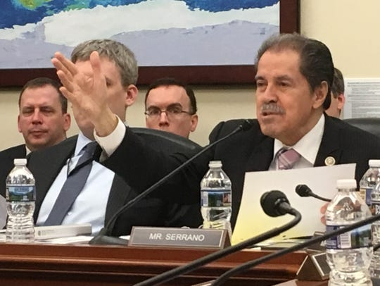 Rep. Jose Serrano, D-N.Y., questioned Census officials last Wednesday about the bureau's plan to add a question about citizenship to the 2020 Census.
