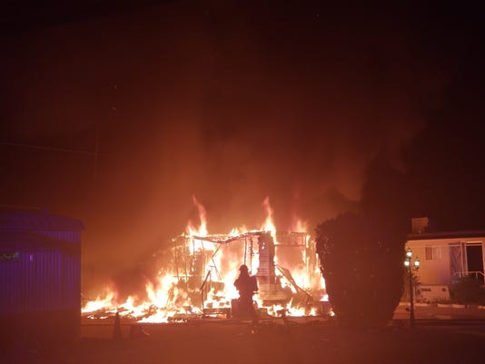 Apache Junction mobile home fire