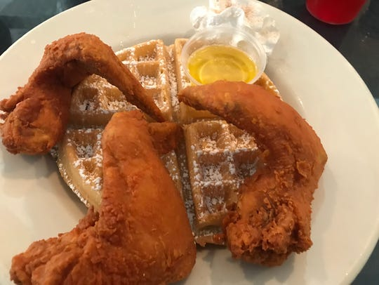 Chicken and waffles special for $10.95 at The Arnett