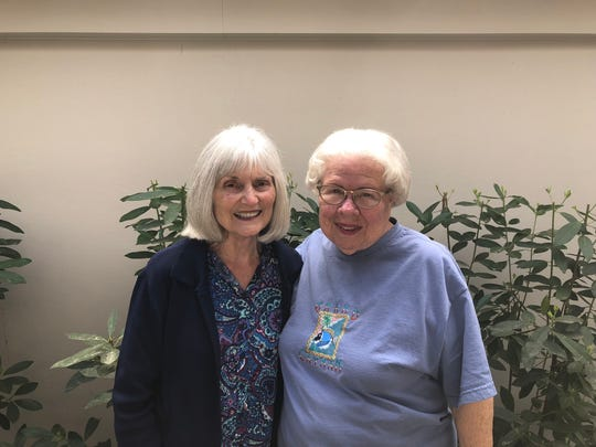 "Gingir Andrews, 80, and Elizabeth ""Betty"" Leggett, 81, are slated to rappel down the DoubleTree after raising funds via Over the Edge to benefit public safety and re-entry programs."