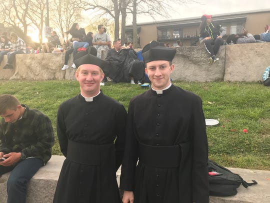 Daniel Croisette and Noah Cooke, seminarians from Our