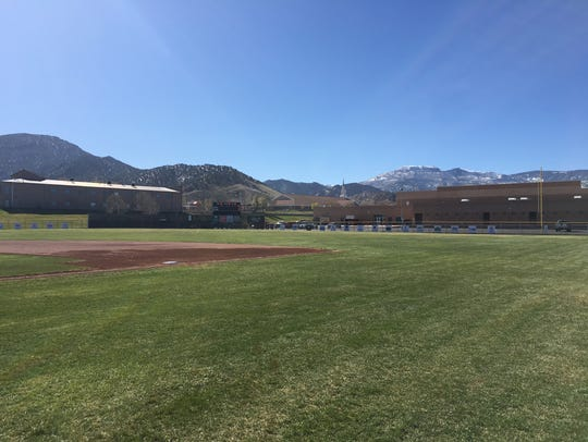 Backdrop of Canyon View's baseball field.