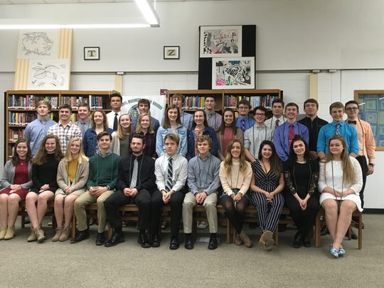 Plymouth High School recently inducted 20 new members