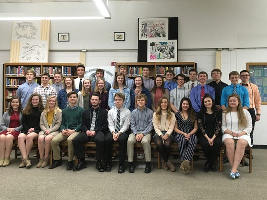 Plymouth High School recently inducted 20 new members into its chapter ofthe National Business Honor Society, to join 11 existing members.