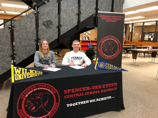 This week Jamie Sayre and Grady Alpert signed letters of intent for college spots. Jamie will play volleyball at Wilkes University, where she plans to major in Pharmacology. Grady will attend Ithaca College and wrestle while he prepares to be a Physical Education teacher.