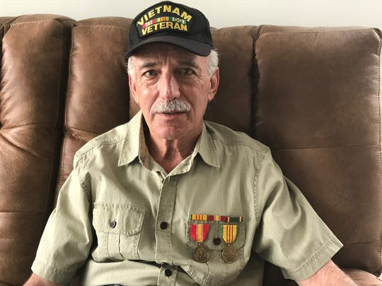 Howard Kuker, 69, of Long Branch, served in the Navy from 1968 to 1972. He spent three months in Vietnam working in naval aviation. Now he spends his days on the boardwalk asking strangers to lobby for veterans struggling with depression.