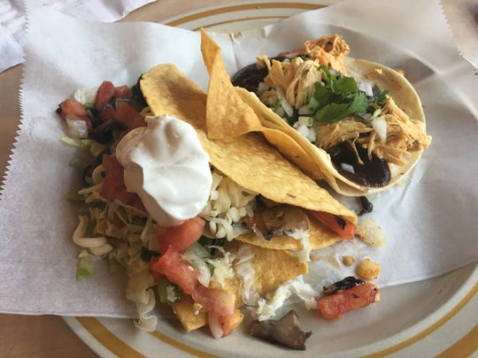 A sampling of tacos from Mole Mole in Poughkeepsie.