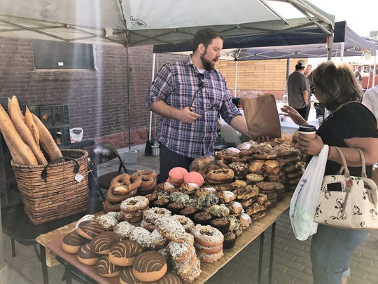 Jonathan Bowden of Bella Cora Bakery offers plenty of tasty baked goods at the El Paso Downtown Artist and Farmers Market on Saturdays.