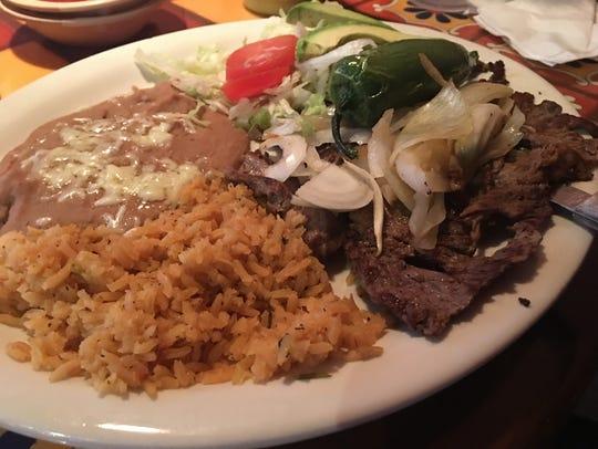Carne asada at Los Comales on Summer.