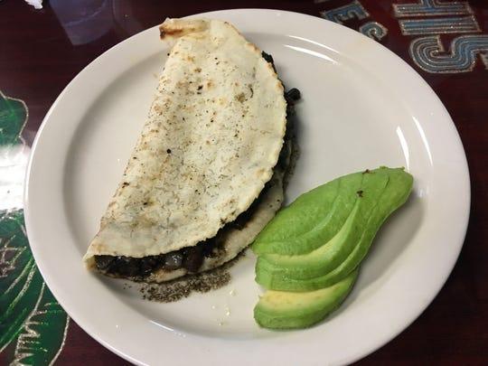 Huitlacoche quesadilla at Palmar.