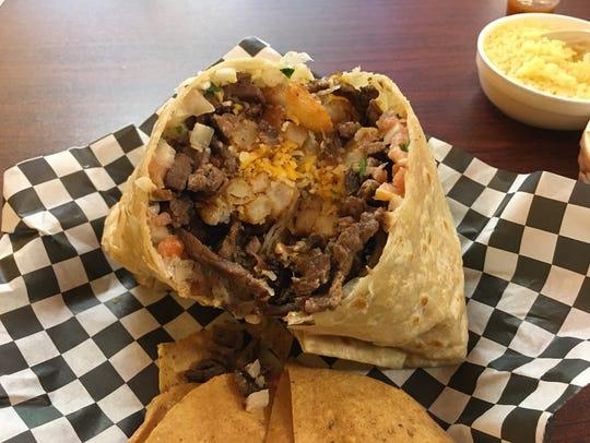 California burrito at Elena's Tacos.
