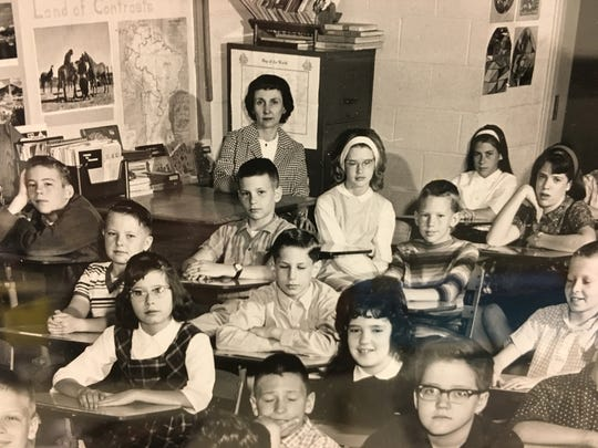 Marie Wiggins, rear center, with one of her classes at Gre-Mar elementary school in the early 1960s