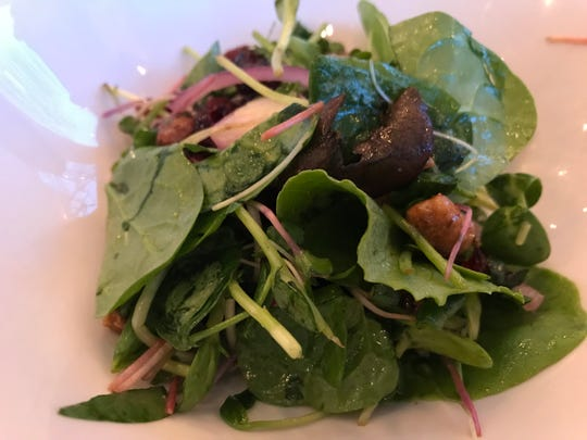 Twin Elms organic salad greens.