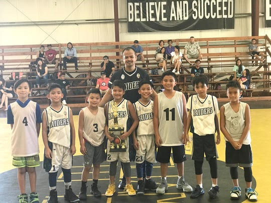 The under-10 Raiders, who won the Under-10 Elite Basketball