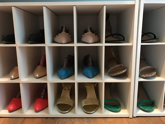 Shoe cubbies like this one keep shoes neat and tidy.