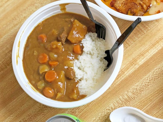 The beef curry, made from a recipe of the owner's mother, tastes like Asian risotto.