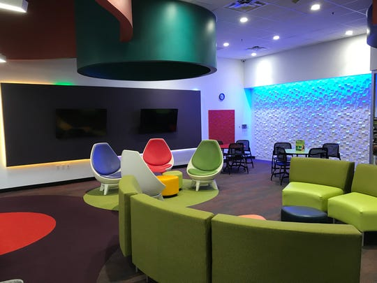 """The """"teen room"""" of the south branch of the Abilene Public Library in the Mall of Abilene."""