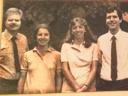 A photo of the medical couples from 1983 when the Glendale