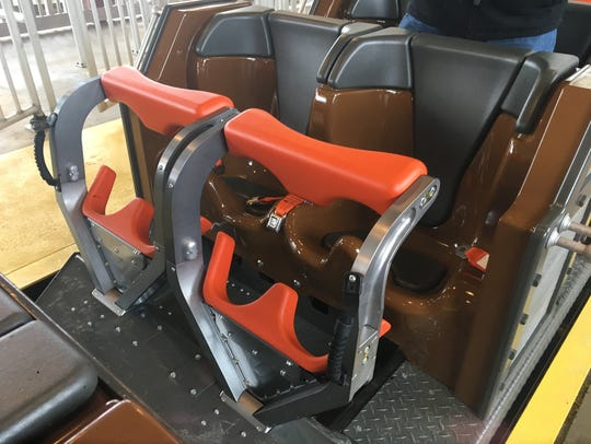 The seating set-up includes a lap belt and individual