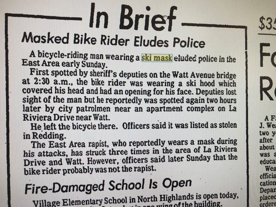 This Dec. 12, 1977 brief story in the Sacramento Bee