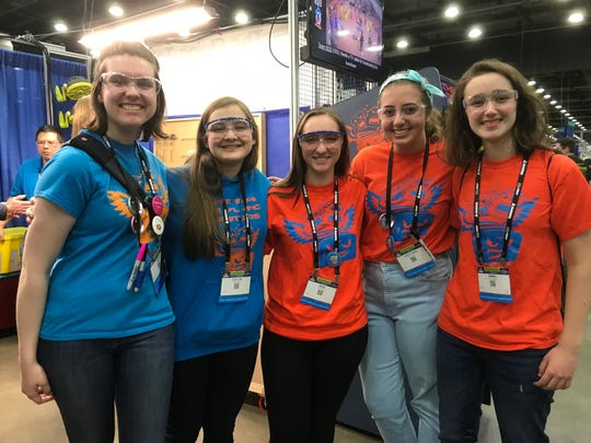 The Flying Toasters from South Lyon Community Schools take part in the 2018 FIRST Robotics World Championship Thursday, April 26.