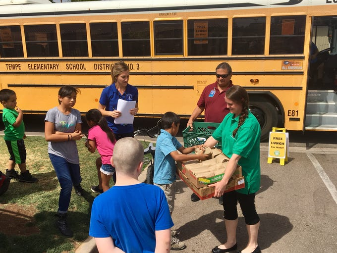 The nutritional services staff from Tempe Elementary