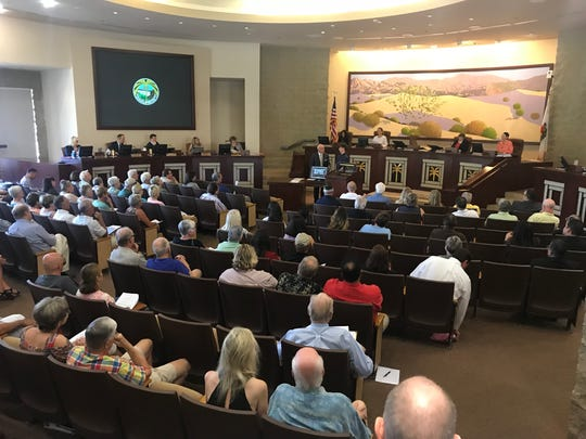 The Palm Desert City Council meets in April 2018.