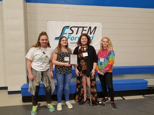 Kiel Middle School's Bird is the Word Beach Party team featured Morgan Fischer, Mykayla Bell, Keagan Kautzer, Madison Menting and Hannah Bolden.