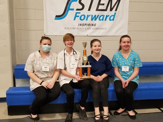 Kiel Middle School's The ER team featured Hailey Schnell, Katie Dickrell, Lauren Reszczynski, Abby Felten and Ella Kannich.