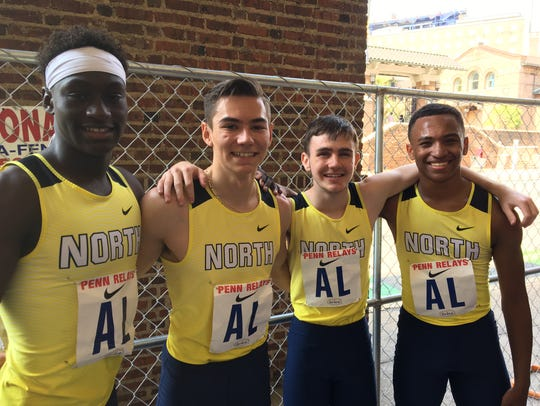 Toms River North's 4x400: Abdolahe Diawara, Connor